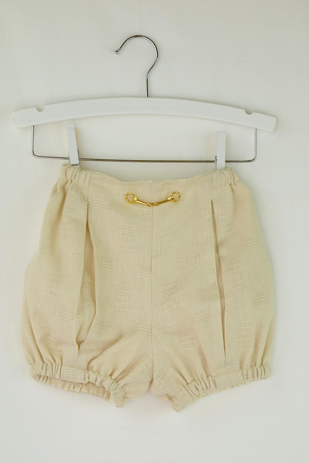 Cuore Baby White & Beige Outfit - Back Cropped Image