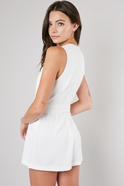 Do & Be White Belted Romper - Side cropped