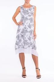 Alison Sheri White/Black Flower Print Dress - Product Mini Image