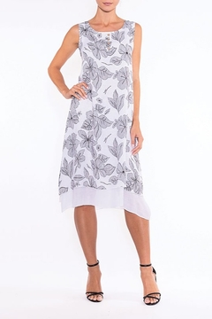 Shoptiques Product: White/black Flower Print Dress