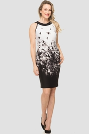 Joseph Ribkoff white, black, grey floral halter dress - Product Mini Image