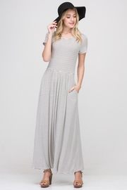 Les Amis White/black-Stripe Pocket Maxi - Product Mini Image