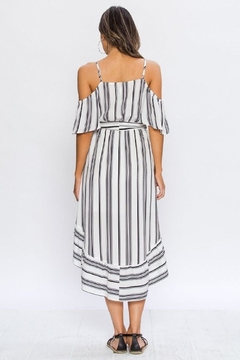 de70b7b3610174 Flying Tomato White black Stripes Dress - Alternate List Image ...