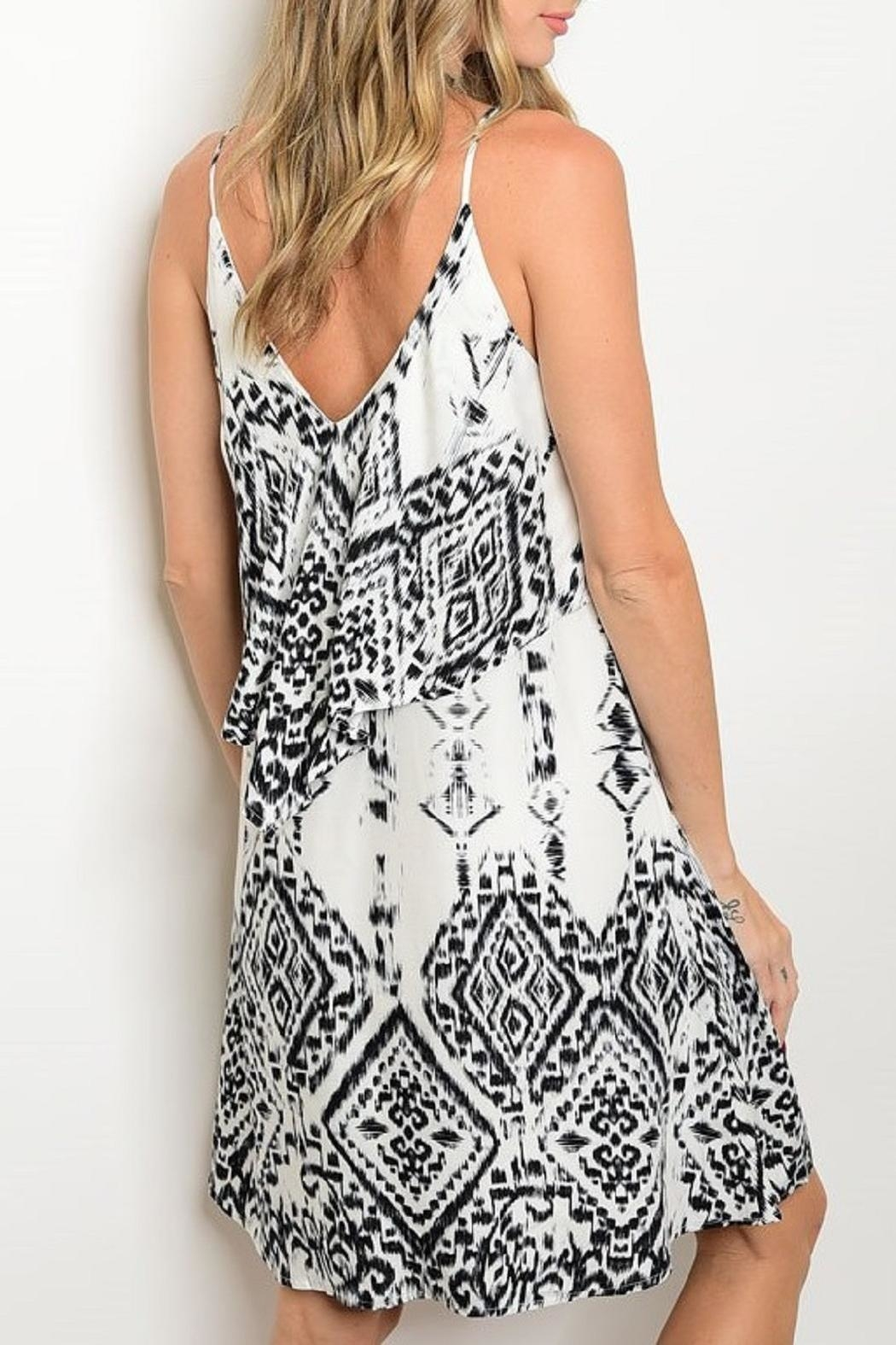 Adore Clothes & More White Black Summer Dress - Front Full Image