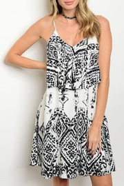 Adore Clothes & More White Black Summer Dress - Front cropped