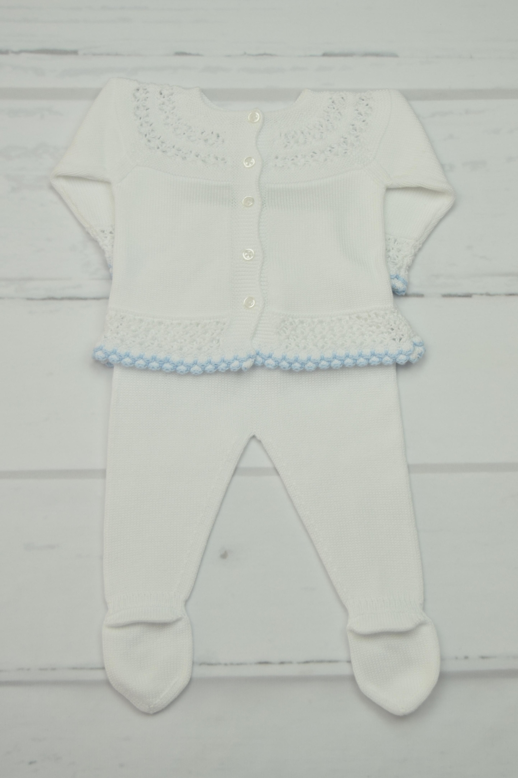 Granlei 1980 White & Blue Newborn - Front Full Image