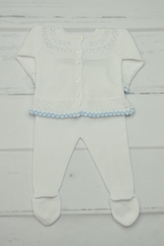 Granlei 1980 White & Blue Newborn - Front full body
