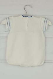 Granlei 1980 White & Blue Onesie - Front full body
