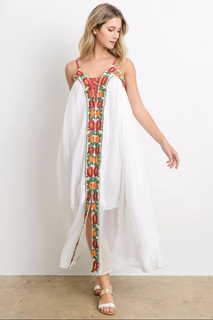 E2 Clothing White Bohemian Dress - Alternate List Image