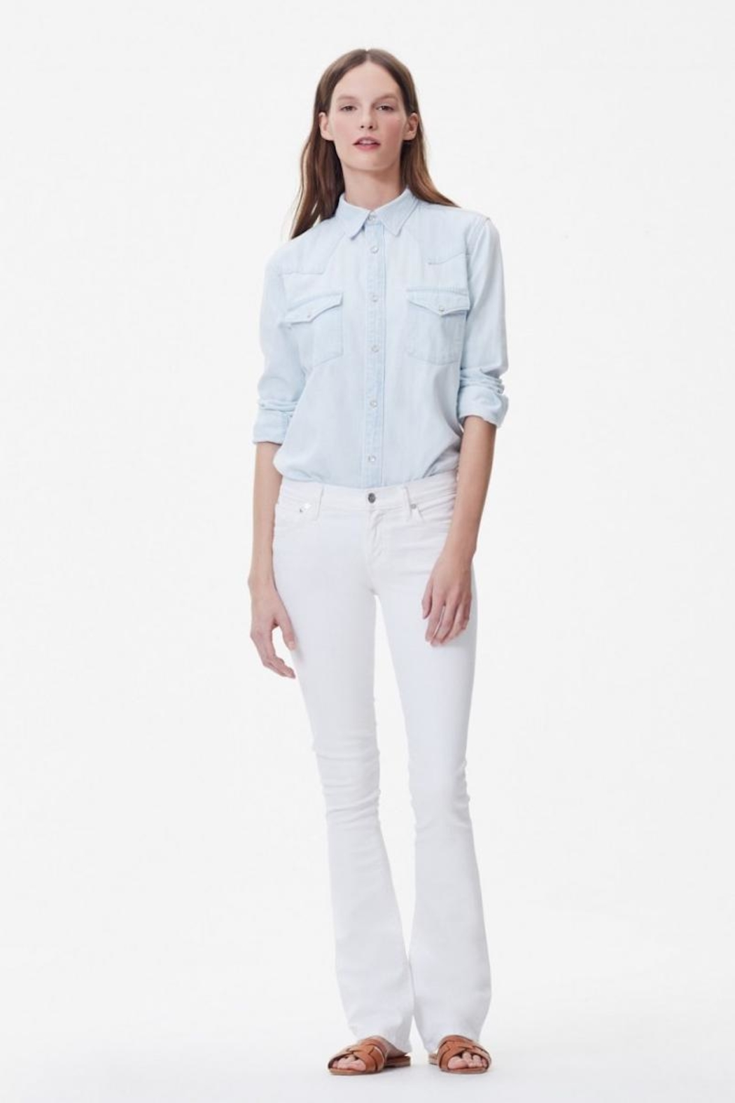 Citizens of Humanity White Bootcut Jeans - Main Image