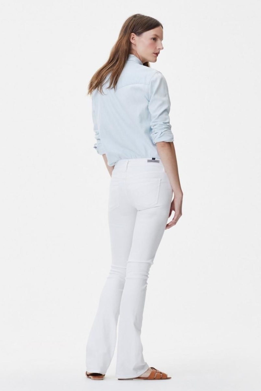 Citizens of Humanity White Bootcut Jeans - Front Full Image