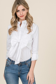 Lumiere White Bow Top - Product List Image