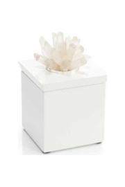 The Birds Nest WHITE BOX WITH QUARTZ TOP-TISSUE HOLDER - Product Mini Image