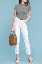 Judy Blue White Boyfriend Denim - Product Mini Image