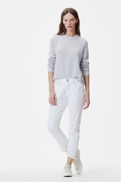 Citizens of Humanity White Boyfriend Jeans - Product List Image