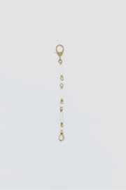 The Woods Fine Jewelry  White/Brass Enamel Extender - Product Mini Image