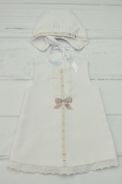 Shoptiques Product: White & Brown Dress