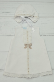 Granlei 1980 White & Brown Dress - Front cropped