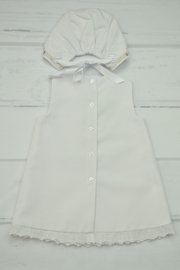 Granlei 1980 White & Brown Dress - Front full body