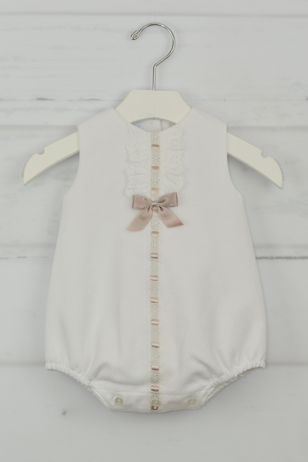 Granlei 1980 White & Brown Onesie - Front Cropped Image