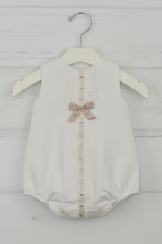 Granlei 1980 White & Brown Onesie - Front cropped