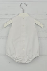 Granlei 1980 White & Brown Onesie - Front full body