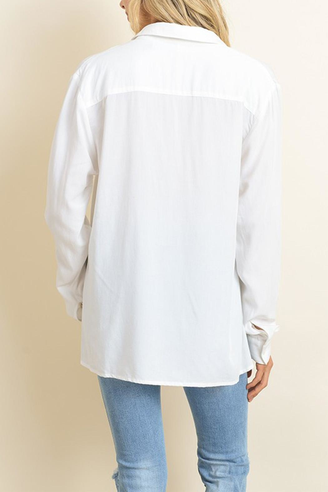 dress forum White Button Down - Back Cropped Image