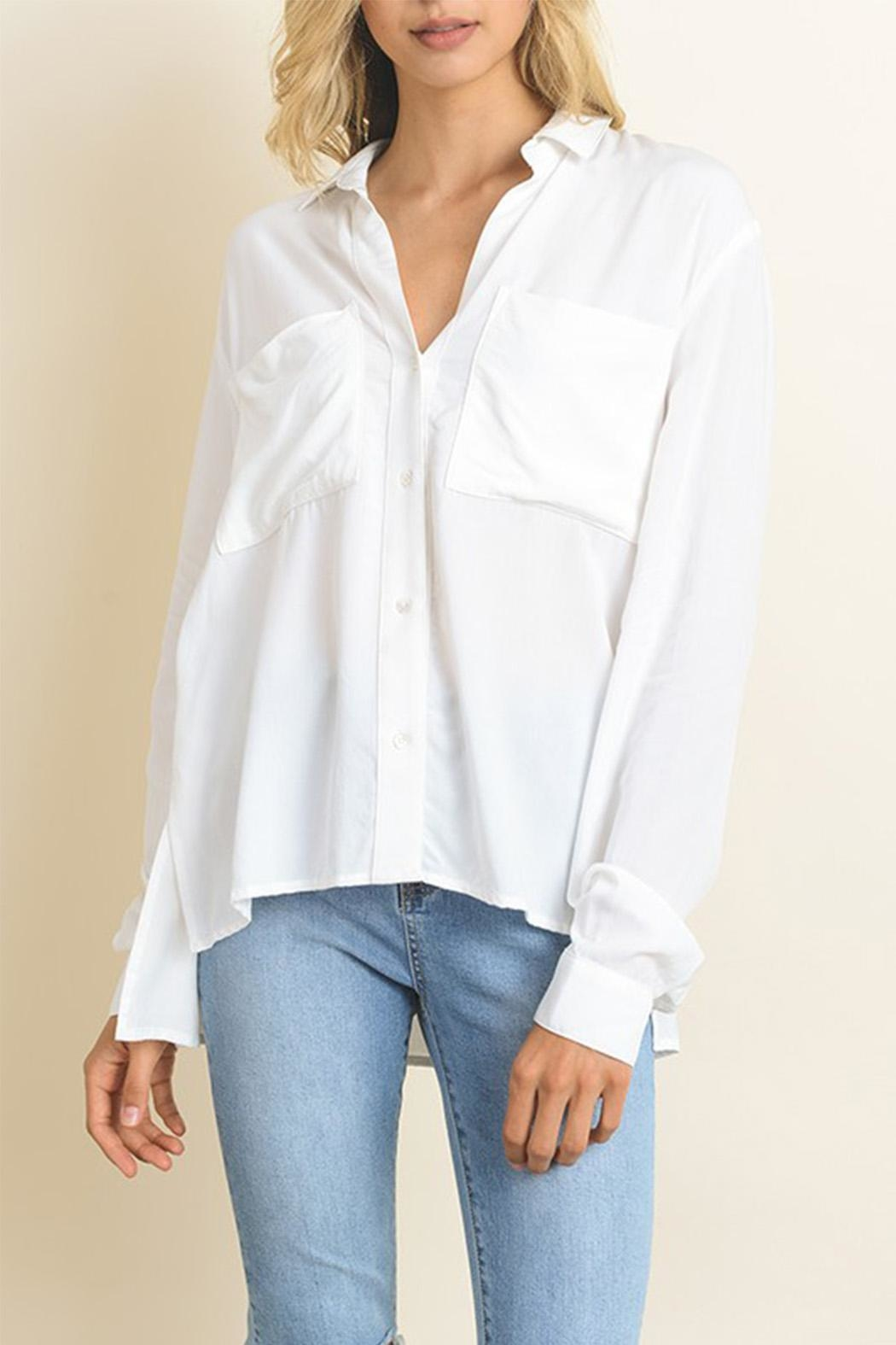 dress forum White Button Down - Front Cropped Image