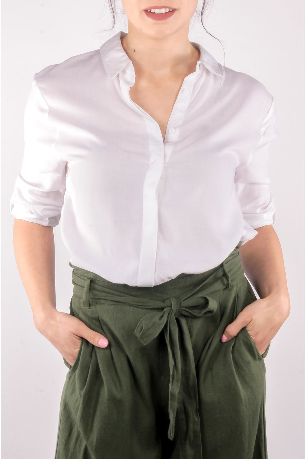 2d22420ea Love Tree White Button Down from Los Angeles by Goldie's — Shoptiques