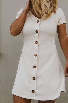 Ellison White Button-Down Dress - Product List Image