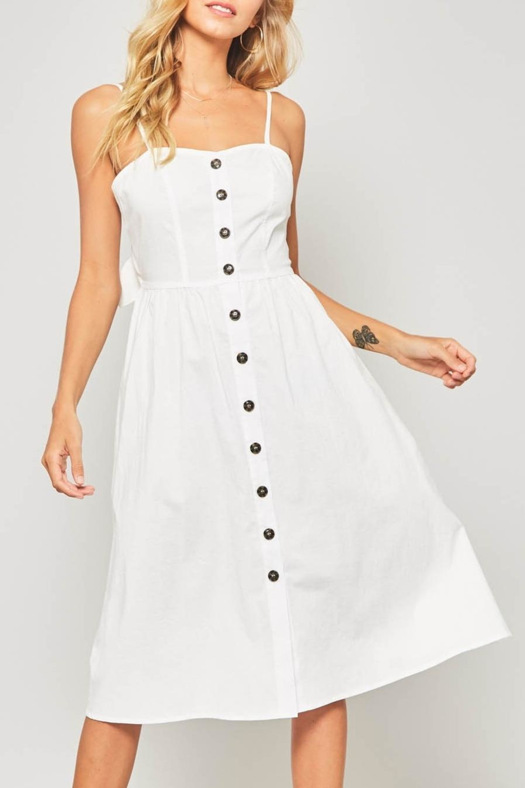 5f740e3d3e4 Promesa USA White Button-Down Midi-Dress from Virginia by mod&soul ...