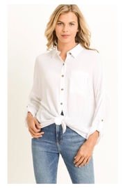 Polly & Esther White Button-Down Top - Product Mini Image