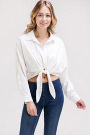 Newbury Kustom White Button-Down Top - Product Mini Image