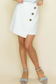 Glam White Button Skirt - Product Mini Image