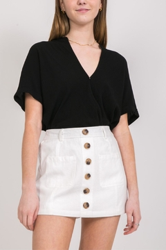 Very J White Button-Up Skort - Product List Image
