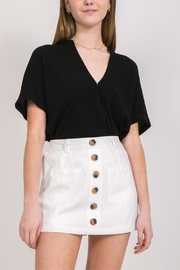Very J White Button-Up Skort - Product Mini Image