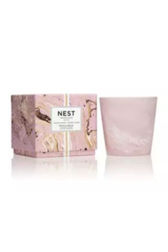 The Birds Nest WHITE CAMELLIA 3-WICK CANDLE (PINK MARBLE) - Alternate List Image