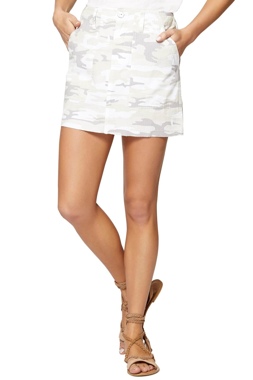 Sanctuary White Camo Skirt - Main Image