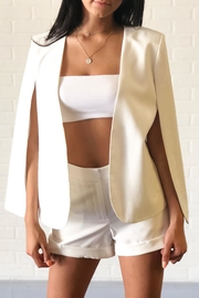 OVI White Cape Blazer - Front cropped