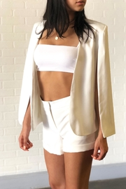 OVI White Cape Blazer - Front full body