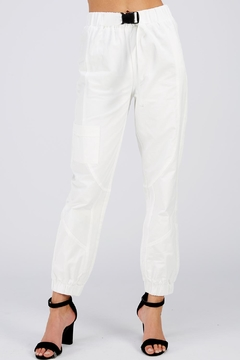 On Twelfth White Cargo Pants - Product List Image