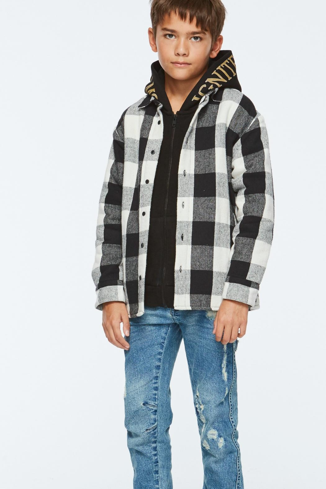 Molo White Check Shirt - Back Cropped Image