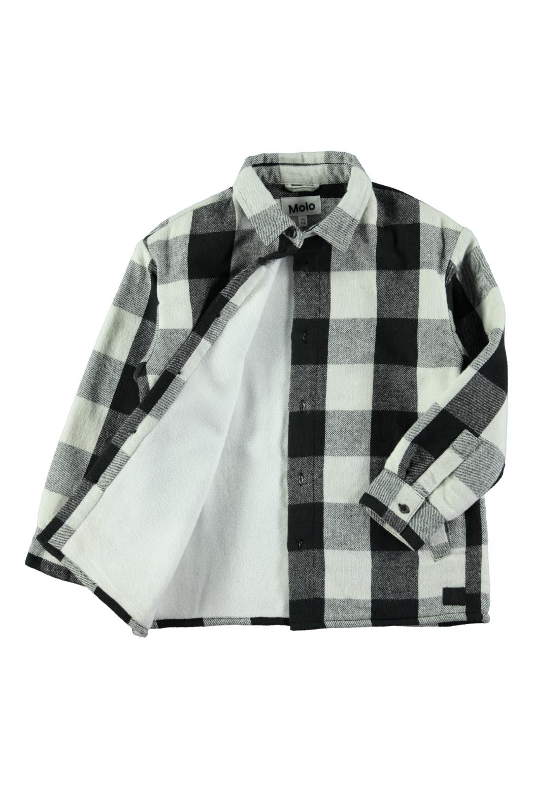 Molo White Check Shirt - Front Full Image