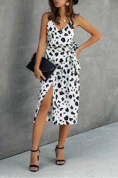 ePretty White Cheetah Dress - Product List Image