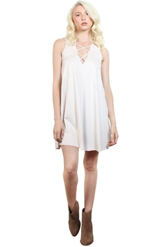 Rock Etiquette White Cocktail  Dress - Product List Image