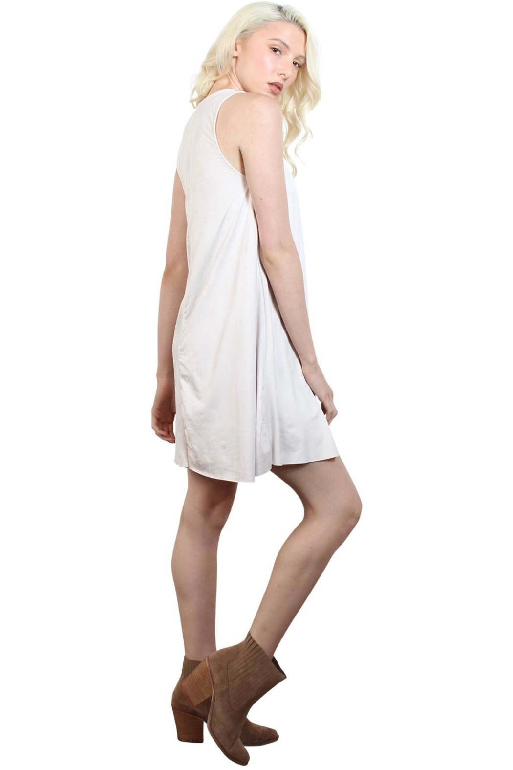 Rock Etiquette White Cocktail  Dress - Side Cropped Image