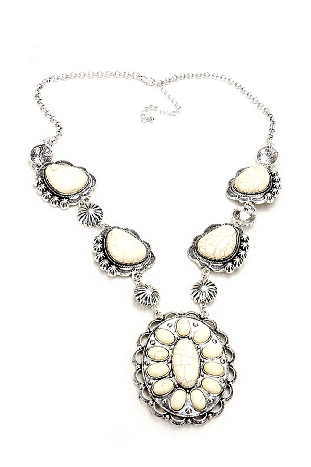 Wild Lilies Jewelry  White Concho Necklace - Main Image