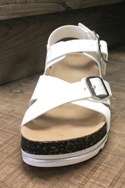 Let's See Style White Cork Sandal - Other