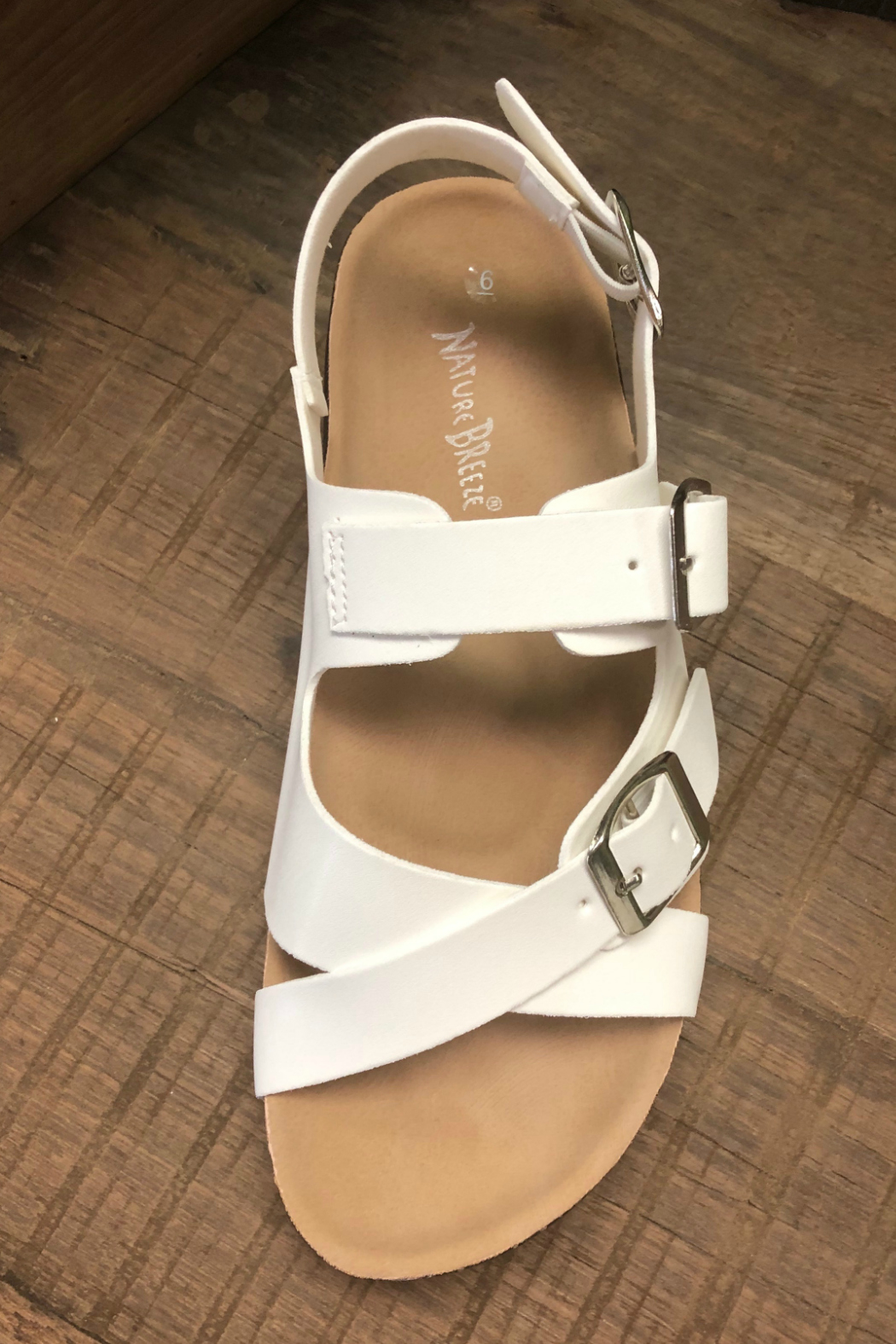 Let's See Style White Cork Sandal - Side Cropped Image