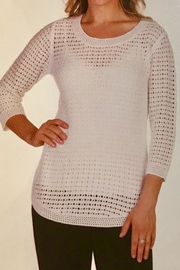 Variations  White Cotton Sweater - Front cropped